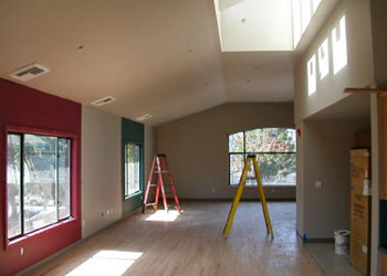 Daylit Montessori classroom under construction - rnarchitect.com