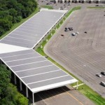 1MW Grid Tied Solar PV Parking Structure Completed